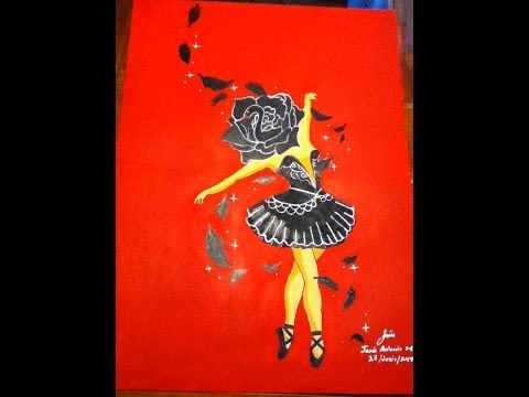 ''Quitando pensamientos'' (Bailarina de Ballet)Time Lapse Pintura acrílicos