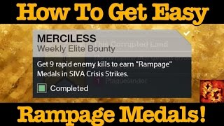 getlinkyoutube.com-Destiny: How To Get Easy Rampage Medals For Zavala's Merciless Bounty!