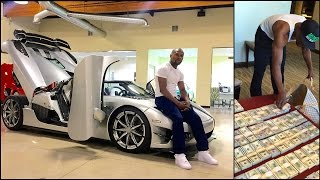getlinkyoutube.com-Floyd Mayweather Buys $4.8 Million Supercar Koenigsegg CCXR Trevita (Floyd Mayweather Jr Cars)