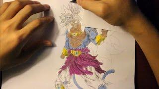getlinkyoutube.com-How To Draw Broly Legendary Super Saiyan 5