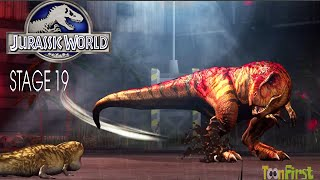 getlinkyoutube.com-Jurassic World - The Game | Vs TyRANNO DINOSAURS Legendary Dinosaurs  - Stage 19 Failed
