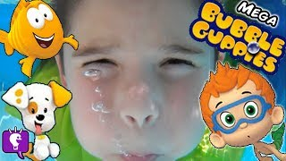 getlinkyoutube.com-MEGA Bubble Guppies! Bubble Hut Surprises + Bubbles Slide Pool Sharks HobbyKidsTV