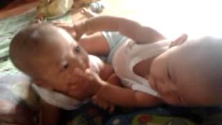 getlinkyoutube.com-Video lucu bayi bertengkar