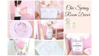 getlinkyoutube.com-Chic Spring Room Decor ♡ Girly & DIY