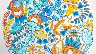 getlinkyoutube.com-Colouring BookTutorial... How to Colour Amazing Leaves.