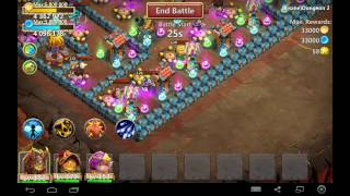 Castle clash : insane dungeon 2-1 ( 3 heroes ONLY) ( 3 flames) ( F2P) !!!!