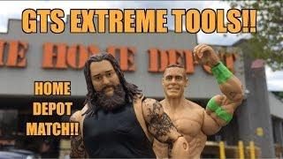 getlinkyoutube.com-GTS WRESTLING: Cena vs Wyatt! Extreme Tools Rules WWE Wrestling figure matches animation parody