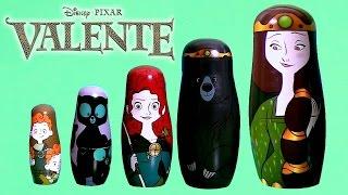 getlinkyoutube.com-TOYSBR Disney Princess Merida Stacking Cups TOYS | Copinhos de Empilhar Disney Pixar Valente
