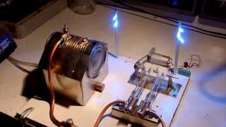 getlinkyoutube.com-Home made twin-cylinder steam engine running on live steam
