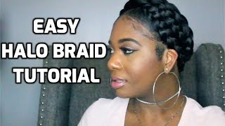 getlinkyoutube.com-Easy Halo Braid Tutorial using Braiding Hair | PocketsandBows