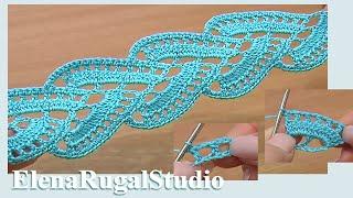 getlinkyoutube.com-Crochet Lace Урок 1 Как вязать ленту крючком