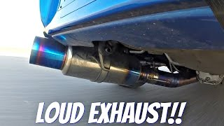 getlinkyoutube.com-Subaru Impreza STi with Tomei Ti Titanium Exhaust LOUD Sound!