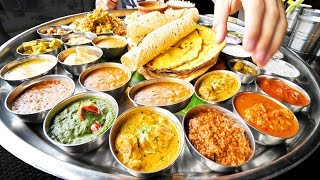 Enter CURRY HEAVEN - Mumbai's BIGGEST Thali (38 Items) + BEST Indian Street Food in Mumbai, India! width=
