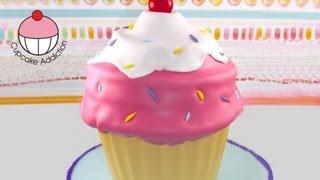 getlinkyoutube.com-Giant Cupcake - Classic Ice-Cream Swirl Style!  A Cupcake Addiction How To Tutorial