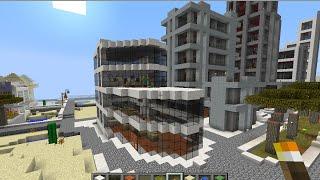 minecraftสอนสร้างห้างโมเดริน part2