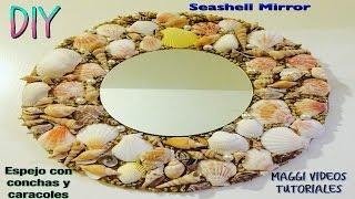 getlinkyoutube.com-Como decorar tu Espejo Con Conchas y Caracoles  de Mar  Seashell Mirror