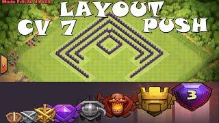 getlinkyoutube.com-Clash Of Clans - O Melhor Layout CV 7 Push  -  (Layout Town Hall 7  - Push Base) #1