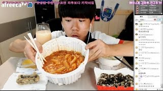 getlinkyoutube.com-중3BJ파투의 중상맛도전..엽기떡볶이세트 먹방! Eating Show