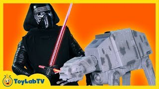 getlinkyoutube.com-Star Wars the Force Awakens Toys Kylo Ren & AT-AT Walker U-Command Remote Control from Disney