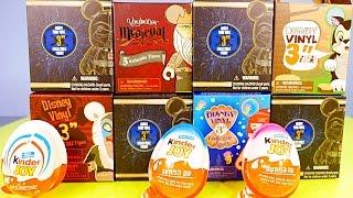 getlinkyoutube.com-Star Wars Disney Vinylmations Series 1 Kinder Joy Eggs Surprise Toys The Lion King Little Mermaid