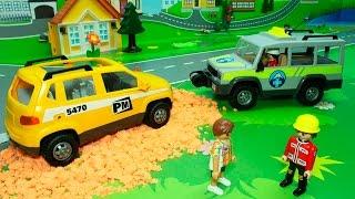 getlinkyoutube.com-Мультфильмы Мультики про машинки Ремонт дороги. Мультфильмы для детей Игрушки для детей