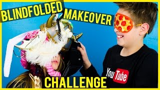 getlinkyoutube.com-BLINDFOLDED MAKEOVER CHALLENGE! 3 MINUTES TO WIN IT
