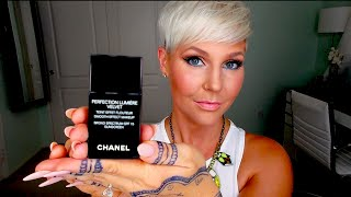 getlinkyoutube.com-CHANEL PERFECTION LUMIÈRE VELVET Foundation Review & Demo