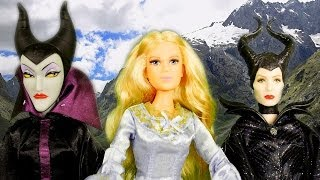 getlinkyoutube.com-NEW Maleficent Movie Barbie Dolls Princess Aurora 2014 Unboxing Review by Disney Cars Toy Club