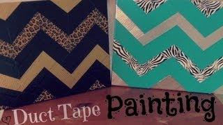getlinkyoutube.com-DIY: Duct Tape Painting - Zig Zag // Chevron