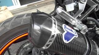 getlinkyoutube.com-Termignoni carbon slip-on for Z250 y.2013