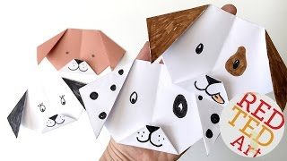 Easy Origami Dog & Puppy (Emoji Puppy Paper Craft)