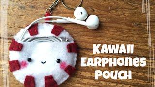 Peppermint Earphones Pouch | Felt Tutorial