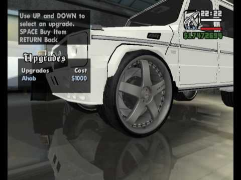 Gta SA Mercedes g500 tuning donk wheels