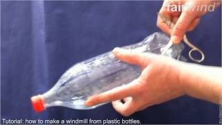 getlinkyoutube.com-FAIRWIND -  how to make windmill blades from plastic bottles