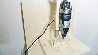 getlinkyoutube.com-Making a horizontal/vertical mini drill press