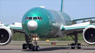 getlinkyoutube.com-Garuda Indonesia Boeing 777-300ER PK-GIH Taxi Test @ KPAE Paine Field