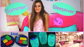 getlinkyoutube.com-Summer Sleepover Ep. 2 - My Period, DIY Glow Jars & Lego Brownies!
