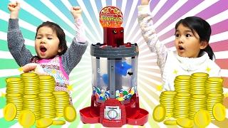 getlinkyoutube.com-負けたら罰ゲーム!モンスターメダルマシーンでパパと勝負☆himawari-CH
