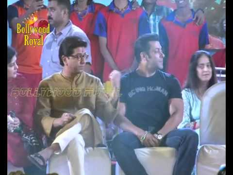 Salman Khan with MNS leader Raj Thackeray at the Sea food festival  1