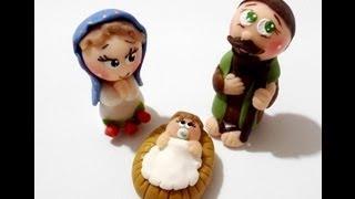 getlinkyoutube.com-Manualidades Navideñas paso a paso / Handmade Christmas - Arts & Crafts porcelana fria
