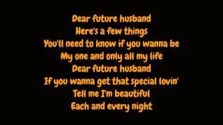 Meghan Trainor - Dear Future Husband (Lyrics HD)