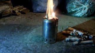 getlinkyoutube.com-Пиролизная печь щепочница своими руками из подручных материалов Тест