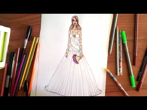 837dce506b8 Download thumbnail for Fashion Drawing   How to draw Wedding Dress ...