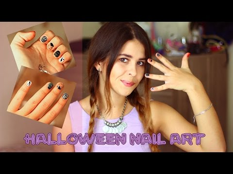 Halloween Nail Art/ Маникюр на Хэллоуин: Раскрашиваем свои корявки/ Fosssaaa