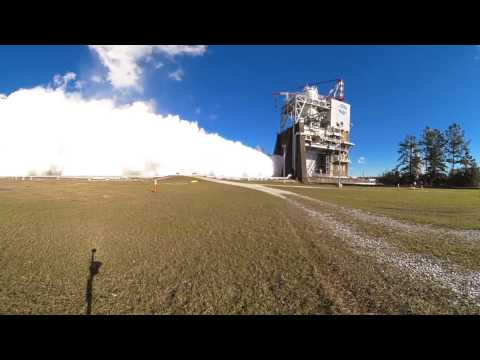 Nasa Video: Smoke and Fire with a 360 View of RS 25 Engine Test : 360 Video