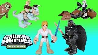 getlinkyoutube.com-The BEST of our Star Wars Playskool Galactic Heroes Adventures all in one video!