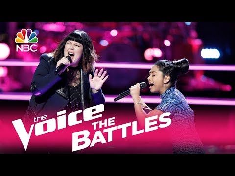 "The Voice 2017 Battle - Anatalia Villaranda vs. Missy Robertson: ""Tightrope"""