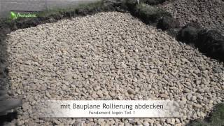 getlinkyoutube.com-Fundament  legen, Betonieren: Teil 1 - Rollierung und Schalungskasten
