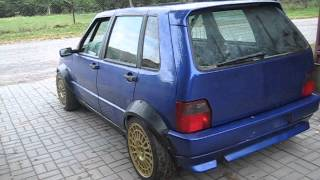 getlinkyoutube.com-Fiat Uno 2.0 16v Turbo Integrale 4x4 by Drupi from Poland - first ride 1