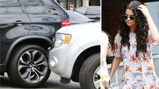 getlinkyoutube.com-Selena Gomez in a Car Accident Caught on Tape - Paps Still ask about Justin Bieber